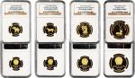 12015   1992年出土文物第二组金币一套4枚