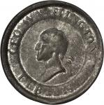 Undated (ca. 1832) Tinsmith Medal. Uniface. Tin. 41.6 mm. Musante GW-138, Baker-161. Very Fine, or b