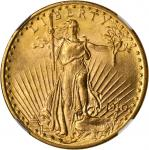 1910-D Saint-Gaudens Double Eagle. MS-62 (NGC).