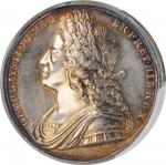 GREAT BRITAIN. George II Coronation Silver Medal, 1727. London Mint. PCGS Genuine--Filed Rims, Unc D