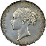 Victoria (1837-1901), Halfcrown, 1841, young head left, no initials on truncation, rev. crowned shie