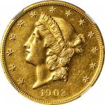 1902 Liberty Head Double Eagle. Proof Details--Improperly Cleaned (NGC).