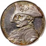 Germany, a silver medal depicting Frederick the Great, 1912, 32mm,NGC MS64, #4975374-019, with attra