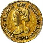 COLOMBIA. Peso, 1825-JF. Bogota Mint. PCGS EF-45 Gold Shield.