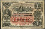 Union Bank of Australia Limited, New Zealand, £1, 1 March 1905, serial number 4/N 236487, black and