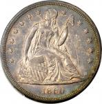 1860-O Liberty Seated Silver Dollar. AU-58 (PCGS).
