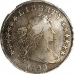 1799/8 Draped Bust Silver Dollar. BB-142, B-1. Rarity-4. VF Details--Improperly Cleaned (NGC).
