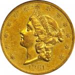1861-O Liberty Head Double Eagle. AU-55 (PCGS).