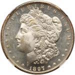 1897-S Morgan Dollar. NGC MS65