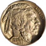 1937-D Buffalo Nickel. FS-901. 3-Legged. MS-65 (NGC).