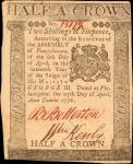 PA-204. Pennsylvania. April 25, 1776. 2 Shillings and 6 Pence. Extremely Fine.