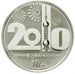 2002年庆祝中国上海申博成功纪念彩色银币1盎司 完未流通