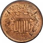 1864 Two-Cent Piece. FS-401. Small Motto. MS-65 RD (PCGS). OGH--First Generation.