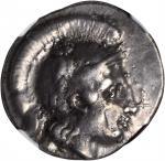 ITALY. Campania. Hyria. AR Didrachm (7.29 gms), ca. 405-385 B.C. NGC EF, Strike: 4/5 Surface: 4/5. L