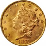 1875 Liberty Head Double Eagle. MS-63+ (PCGS).