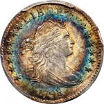 1798/7 Draped Bust Dime. JR-1. Rarity-3. 16-Star Reverse. MS-65+ (PCGS). CAC. Secure Holder.