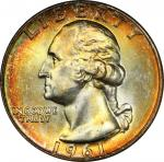 1961-D Washington Quarter. MS-66 (PCGS).