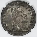NETHERLAND EAST INDIES West Friesland オランド领东インド・ウェストフリースラント 3Gulden 1786/5 NGC-AU58 EF+