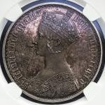 GREAT BRITAIN Victoria ヴィクトリア(1837~1901) Crown 1853 NGC-PF63 Proof UNC