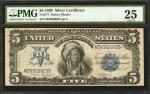 Fr. 277. 1899 $5 Silver Certificate. PMG Very Fine 25.