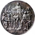 1913年普鲁士纪念拿破崙战争100週年3马克银币,正面有彩虹包浆,PCGS AU Detail,有清洗