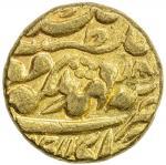 JAIPUR: Ram Singh, 1835-1880, AV mohur (10.72g), Sawai Jaipur, year 30, KM-125, one minuscule testma
