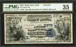 New York, New York. $50 1882 Date Back. Fr. 561. The Chase NB. Charter #2370. PMG Choice Very Fine 3