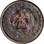 (EAGLE ON HALF GLOBE) on the reverse of an 1814 Classic Head large cent Brunk-Unlisted, Rulau Y-17A.