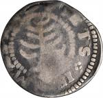 1652 Pine Tree Shilling. Small Planchet. Noe-29, Salmon 11-F, W-930. Rarity-3. Good-4.