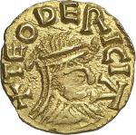 France  MeROVINGIENS Teodericus (monetaire), vers 585-675.