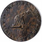 Undated (ca. 1793-1795) Kentucky Token. W-8810. Rarity-5. Copper. LANCASTER Edge. AU-55 (PCGS).