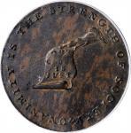 Undated (ca. 1793-1795) Kentucky Token. W-8810. Rarity-5. Copper. LANCASTER Edge. AU-55 (PCGS).