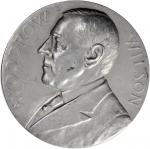 1917 Woodrow Wilson Presidential Medal. Second Inauguration. Aluminum. 76 mm. By George T. Morgan. F