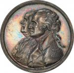 1783 (ca.1805) Washington & Franklin, Peace of 1783 Medal by Sansom. Silver. 40.3 mm. 543.5 grains.