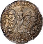 GERMANY. Saxe-Weimar. Taler, 1613-WA. Saalfeld Mint. Johann Ernst with his seven brothers. NGC AU-53