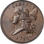 1793 Liberty Cap Half Cent. Head Left. C-3. AU-53 (PCGS). CAC. OGH.