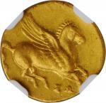 SICILY. Syracuse. Timoleon & The Third Democracy, ca. 345-317 B.C. AV 30 Litrai (1/4 Stater) (2.10 g