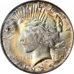 1925 Peace Silver Dollar. MS-66 (PCGS). CAC.