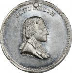 Circa 1876 muling of J.A. Bolens Washington and Jefferson dies. Musante GW-799, Baker-222, Musante J