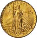 1908 Saint-Gaudens Double Eagle. No Motto. MS-65 (PCGS).