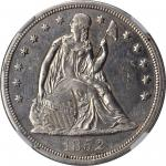 1852 Liberty Seated Silver Dollar. OC-1. Rarity-5-. AU Details--Polished (NGC).