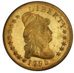 1795 Capped Bust Right Eagle. Bass Dannreuther-3. Rarity-6. 9 Leaves. Mint State-63+ (PCGS).