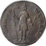 1787 Massachusetts Cent. Ryder 2b-A, W-6040. Rarity-2. Arrows in Left Talon, Horned Eagle. VF-35 (PC