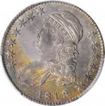1819/8 Capped Bust Half Dollar. O-103. Rarity-5. Large 9. AU-58 (PCGS).
