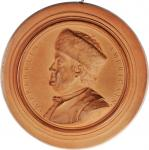1777 B. Franklin American Medallion. Terra Cotta. 114.3 mm. 166.2 grams. By Jean-Baptist Nini. Margo