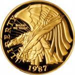 1987-W U.S. Constitution Bicentennial Gold $5. Proof-69 Deep Cameo (PCGS).