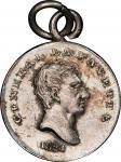 1824 Lafayette Visit medalet by Joseph Lewis. Musante GW-112, Baker-198A. Silver. AU-55 (PCGS).