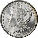 1891 Morgan Silver Dollar. MS-65 (PCGS). Secure Holder.