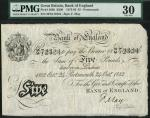 Bank of England, Frank May (1873-1893), 」5, Portsmouth, 24 October 1882, serial number 39/M 72324, b