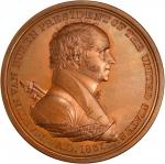 1837 Martin Van Buren Indian Peace Medal. First Size. Second Reverse. Bronzed Copper. 76 mm. By Mori